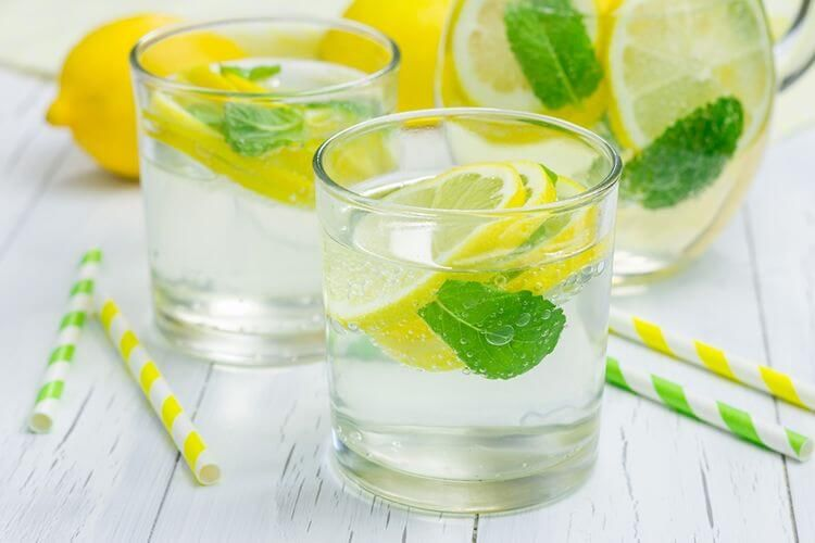 Morning Lemon Mint Detox Water